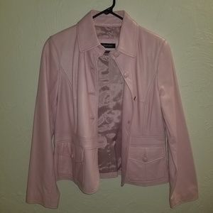 Pink Leather Jacket by IDEOLOGY